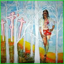 Kreuzigung, Natur, Mann, Baum