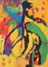 Malerei, Kranich