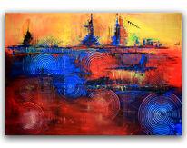 Malerei, Abstrakt, Gemälde, Moderne malerei