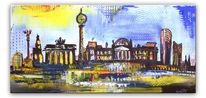 Gemälde, Malerei, Stadt, Berlin