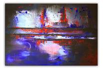 Blau, Gemälde, Bewegung, Auftragsarbeit
