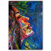 Kunstwerk, Frauen porträt, Malerei, Frauenportrait
