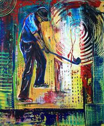 Gemälde, Wohnzimmer, Golfspiel, Golf