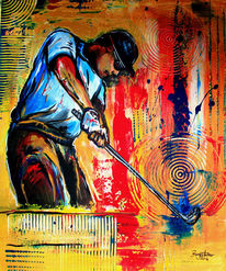 Acrylmalerei, Mann, Moderne malerei, Gemälde