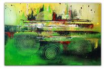 Gelb, Malen, Moderne malerei, Wand