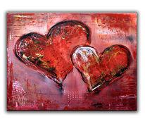 Abstrakt, Herz, Muttertag, Gemälde