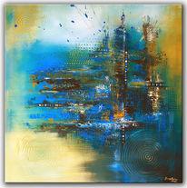 Acrylmalerei, Moderne kunst, Abstrakte malerei, Wandbild