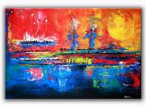 Abstrakte malerei, Gemälde, Moderne kunst, Abstrakt