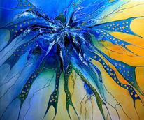 Blau, Gemälde, Gelb, Abstrakte malerei