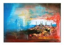 Wandbilder, Orginal gemälde, Stadt, Abstrakt