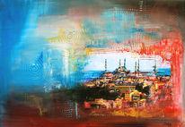 Stadt, Dekoration, Gemälde, Geschenk
