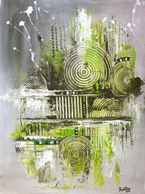 Acrylmalerei, Navigation, Gemälde, Grün