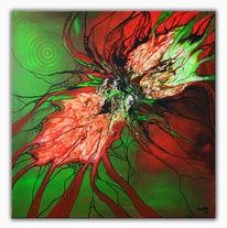 Acrylmalerei, Grün, Wandbilder, Abstrakte kunst