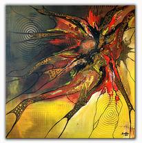 Abstrakte kunst, Acrylmalerei, Rostalarm, Gemälde