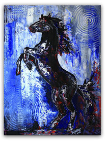 Pferde, Abstrakt, Moderne kunst, Grau