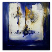 Weiß, Acrylmalerei, Abstrakt, Gelb