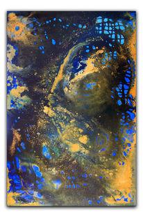 Blau, Gelb, Acrylmalerei, Moderne kunst