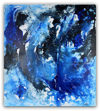 Rot, Abstrakte kunst, Modern art, Liquid painting