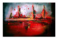 Rot, Gemälde, Abstrakt, Acrylmalerei