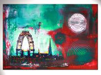 Wien, Stadt, Wandbild, Abstrakte malerei