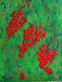 Beere, Grün, Rot, Malerei