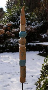 Frostfest, Stele, Keramik, Garten