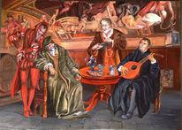 Luther, Philipp melanchton, Auerbachs keller, Malerei