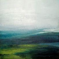 Landschaft, Himmel, Nebel, Malerei