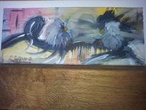 Grau, Farben, Vogel, Malerei