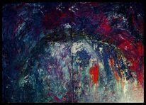 Malerei, Ölmalerei, Acrylmalerei, Begegnung