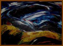 Landschaft, Abstrakt, Ölmalerei, Malerei