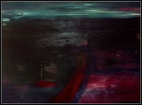 Malerei, Acrylmalerei, Sand, Landschaft