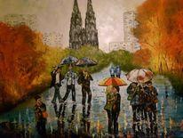 Kölner dom, Spachteltechnik, Ölmalerei, Malerei