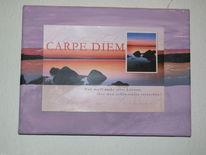 Postkarte, Stimmung, Stein, Meer