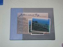 Weg, Postkarte, Landschaft, Malerei