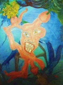 Gesellschaft, Menschen, Ausdruck, Malerei