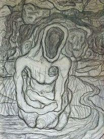 Symbolismus, Landschaft, Zeichnung, Ausdruck