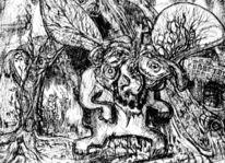 Troll, Schrift, Flügel, Geheim