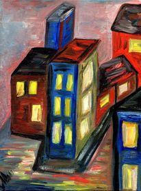 Fantasie, Gegensatz, Kontrast, Haus