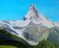Berge, Schweiz, Alpen, Matterhorn