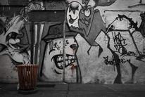 Wand, Streetart, Roh, Berlin