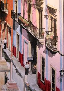 Guanajuato, Straße, Balkon, Kolonialismus