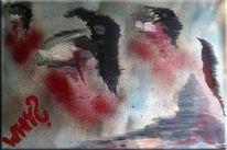 Acrylmalerei, Graffiti, Tiere, Abstrakt