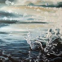 Realismus, Spritze, Blau, Wasser