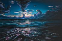 Schaum, Wasser, Himmel, Meer