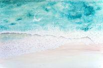 Welle, Sand, Vogelperspektive, Urlaub