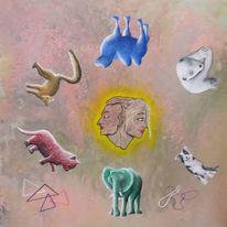 Acrylmalerei, Malerei, Modern, Kreis