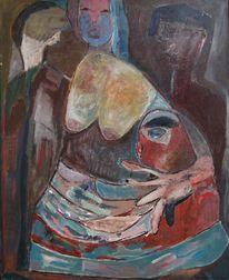 Frau, Menschen, Zorn, Malerei