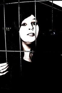 Frau, Freiheit, Menschen, Gitter
