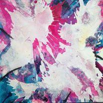 Zeitgenössische kunst, Acrylmalerei, Schüttung, Marmormehl